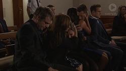 Gary Canning, Ben Kirk, Terese Willis, Piper Willis, Paige Novak, Mark Brennan, Aaron Brennan in Neighbours Episode 7777