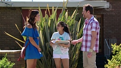 Elly Conway, Kirsha Rebecchi, Shane Rebecchi in Neighbours Episode 7778