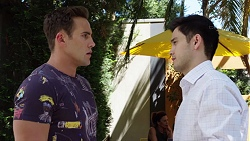 Aaron Brennan, David Tanaka in Neighbours Episode 7778