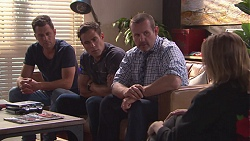 Mark Brennan, Aaron Brennan, Toadie Rebecchi, Piper Willis in Neighbours Episode 7778