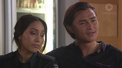Mishti Sharma, Leo Tanaka in Neighbours Episode 7779