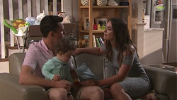 Jack Callaghan, Gabriel Smith, Paige Novak in Neighbours Episode 7780
