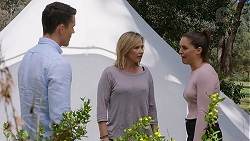 Jack Callaghan, Steph Scully, Paige Novak in Neighbours Episode 7781