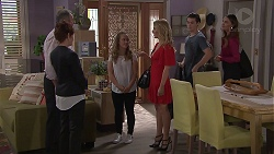 Karl Kennedy, Susan Kennedy, Holly Hoyland, Izzy Hoyland, Ben Kirk, Elly Conway in Neighbours Episode 7782