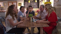 Holly Hoyland, Yashvi Rebecchi, Ben Kirk, Karl Kennedy, Izzy Hoyland in Neighbours Episode 7782