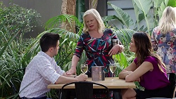 David Tanaka, Sheila Canning, Elly Conway in Neighbours Episode 7784