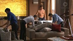 David Tanaka, Paul Robinson, Leo Tanaka, Jimmy Williams in Neighbours Episode 7785