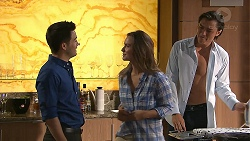 David Tanaka, Amy Williams, Leo Tanaka in Neighbours Episode 7785