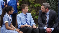 Kirsha Rebecchi, Jimmy Williams, Wayne Baxter in Neighbours Episode 7785
