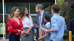 Amy Williams, Elly Conway, Wayne Baxter, Kirsha Rebecchi, Jimmy Williams in Neighbours Episode 7785