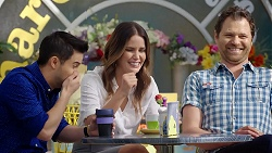 David Tanaka, Elly Conway, Shane Rebecchi in Neighbours Episode 7785