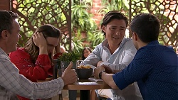 Paul Robinson, Amy Williams, Leo Tanaka, David Tanaka in Neighbours Episode 7785