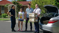 Mishti Sharma, Kirsha Rebecchi, Shane Rebecchi, Toadie Rebecchi in Neighbours Episode 7785