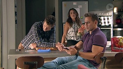 Mark Brennan, Paige Novak, Aaron Brennan in Neighbours Episode 7786
