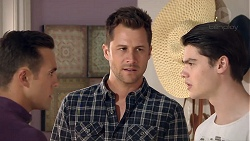 Aaron Brennan, Mark Brennan, Ben Kirk in Neighbours Episode 7786