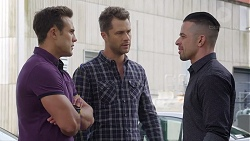 Aaron Brennan, Mark Brennan, Adrian Snyder in Neighbours Episode 7786
