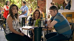 Paige Novak, Terese Willis, Gary Canning in Neighbours Episode 7786