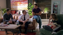Mark Brennan, Toadie Rebecchi, Aaron Brennan, Piper Willis in Neighbours Episode 7787