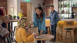 Izzy Hoyland, Elly Conway, Mark Brennan in Neighbours Episode 7788