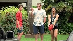 Jimmy Williams, Toadie Rebecchi, Yashvi Rebecchi in Neighbours Episode 7788