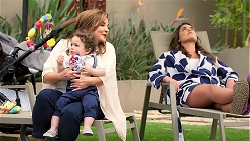 Terese Willis, Gabriel Smith, Paige Novak in Neighbours Episode 7789