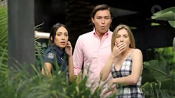 Mishti Sharma, Leo Tanaka, Piper Willis in Neighbours Episode 7789