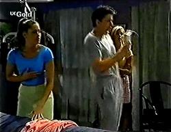 Sarah Beaumont, Vince DeBolfo, Joanna Hartman in Neighbours Episode 2773