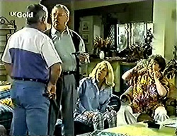 Lou Carpenter, Harold Bishop, Madge Bishop, Marlene Kratz in Neighbours Episode 2775