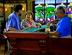 Karl Kennedy, Marlene Kratz, Lou Carpenter in Neighbours Episode 2783