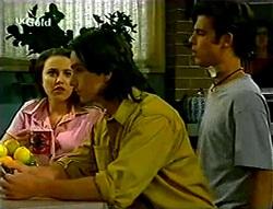 Libby Kennedy, Darren Stark, Malcolm Kennedy in Neighbours Episode 2785