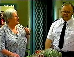 Claudia Harvey, Harold Bishop in Neighbours Episode 2785
