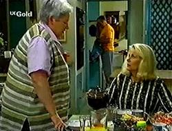 Claudia Harvey, Harold Bishop, Madge Bishop in Neighbours Episode 2786