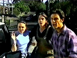 Libby Kennedy, Darren Stark, Malcolm Kennedy in Neighbours Episode 2788