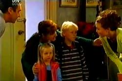 Karl Kennedy, Susan Kennedy, Emily Hancock, Leo Hancock, Libby Kennedy in Neighbours Episode 3638