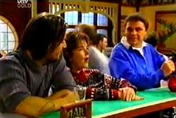 Drew Kirk, Lyn Scully, Joe Scully in Neighbours Episode 3638