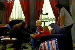 Libby Kennedy, Dahl, Leo Hancock, Emily Hancock, Drew Kirk in Neighbours Episode 3638