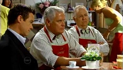 Paul Robinson, Lou Carpenter, Harold Bishop in Neighbours Episode 4699