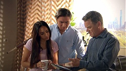 Mishti Sharma, Leo Tanaka, Paul Robinson in Neighbours Episode 7791