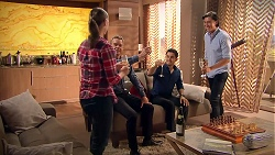 Amy Williams, Paul Robinson, David Tanaka, Leo Tanaka in Neighbours Episode 7791