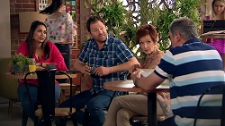 Dipi Rebecchi, Shane Rebecchi, Susan Kennedy, Karl Kennedy in Neighbours Episode 7793