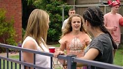 Xanthe Canning, Holly Hoyland, Yashvi Rebecchi in Neighbours Episode 7793