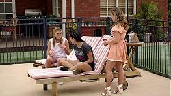 Xanthe Canning, Yashvi Rebecchi, Holly Hoyland in Neighbours Episode 7793