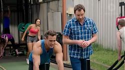 Mishti Sharma, Aaron Brennan, Shane Rebecchi in Neighbours Episode 7793