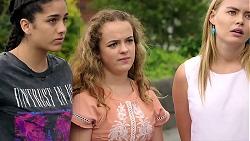 Yashvi Rebecchi, Holly Hoyland, Xanthe Canning in Neighbours Episode 7793