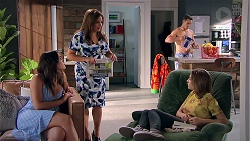 Paige Novak, Terese Willis, Aaron Brennan, Piper Willis in Neighbours Episode 7795