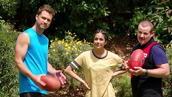 Mark Brennan, Yashvi Rebecchi, Toadie Rebecchi in Neighbours Episode 7795