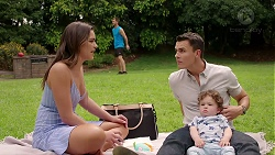 Paige Novak, Mark Brennan, Jack Callaghan, Gabriel Smith in Neighbours Episode 7795
