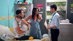 Jack Callaghan, Gabriel Smith, Paige Novak, David Tanaka in Neighbours Episode 7796