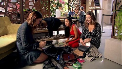 Elly Conway, Mishti Sharma, Amy Williams in Neighbours Episode 7797
