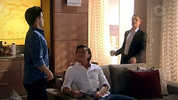 David Tanaka, Paul Robinson, Leo Tanaka in Neighbours Episode 7797